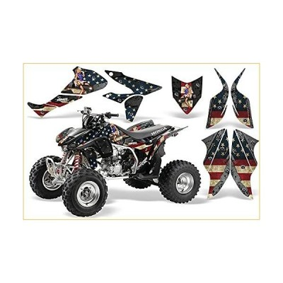 AMR Racing ATV Graphics kit Sticker Decal Compatible with Honda TRX 450R 2004-2016 - WW2 グラフィックキット  並行輸入品