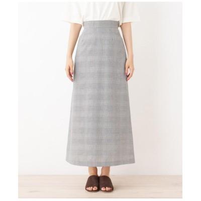 【42(LL)WEB限定サイズ・多機能】リネンブレンドロングスカート