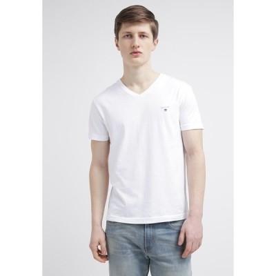 ガント Tシャツ メンズ トップス THE ORIGINAL  SLIM FIT - Basic T-shirt - white