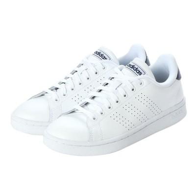 アディダス ADVANCOURT LEA U F36423 メンズ レディース スニーカー : ホワイト×ネイビー adidas 白スニーカー 白靴 通学スニーカー 白スクールシューズ 通学靴