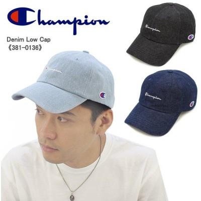 チャンピオン Champion  デニム ロー キャップ 381-0136  メンズ 帽子[AA]