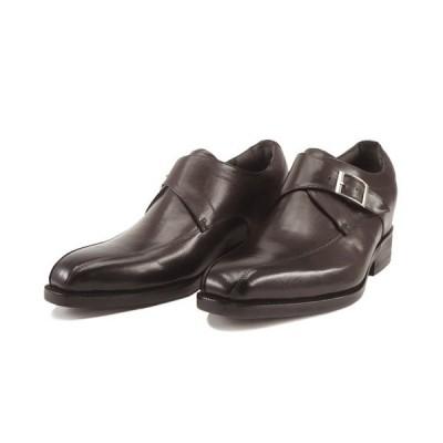 セール!早い者勝ち ヒールアップシューズ 1509 レニカ モンクストラップ 3E ダークブラウン RENICA  紳士靴 6cmアップ