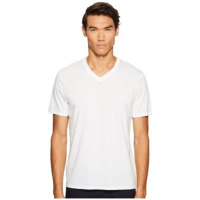 ヴィンス シャツ メンズ Short Sleeve Pima Cotton V-Neck Shirt Optic White