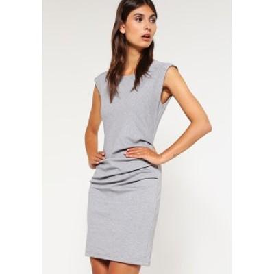 カフェ レディース ワンピース トップス INDIA O NECK - Shift dress - grey grey