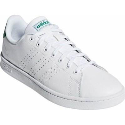アディダス メンズ スニーカー シューズ Men's adidas Advantage Sneaker FTWR White/FTWR White/Green