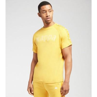 カッパ Kappa レディース Tシャツ バンダ トップス 222 Banda Deto Printed Short Sleeve Tee Yellow Vanille/Yellow Light/White