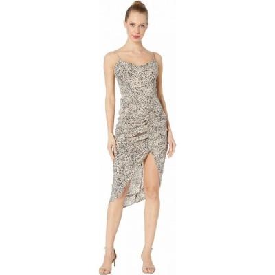 ビービーダコタ BB Dakota レディース パーティードレス ワンピース・ドレス On The Prowl Party Animal Print CDC Dress Taupe