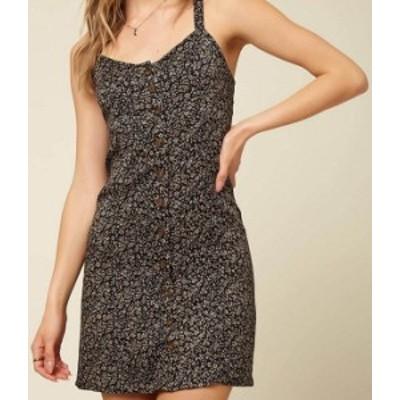 オニール レディース ワンピース トップス Angelica Floral Button Front Dress Black