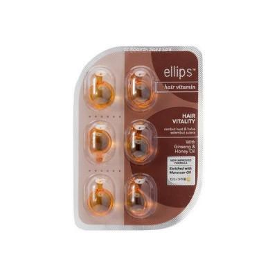 ellips(エリップス)ヘアトリートメント HAIR VITALITY シートタイプ オレンジ 6粒 1個 アイエスリンク