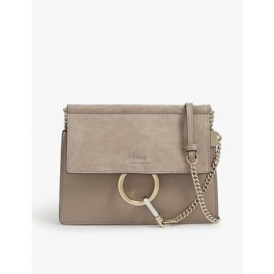 クロエ CHLOE レディース ショルダーバッグ サッチェルバッグ バッグ Faye mini suede and leather satchel MOTTY GREY