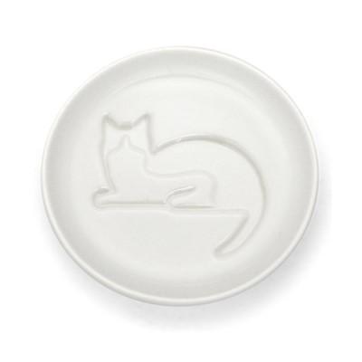ネコ醤油皿 まつ/3個入/プロ用/新品