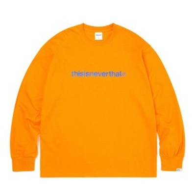 thisisneverthat(ディスイズネバーザット)TNCOCLS003T ロゴL/LS長袖Tシャツ/マリーゴールド XL