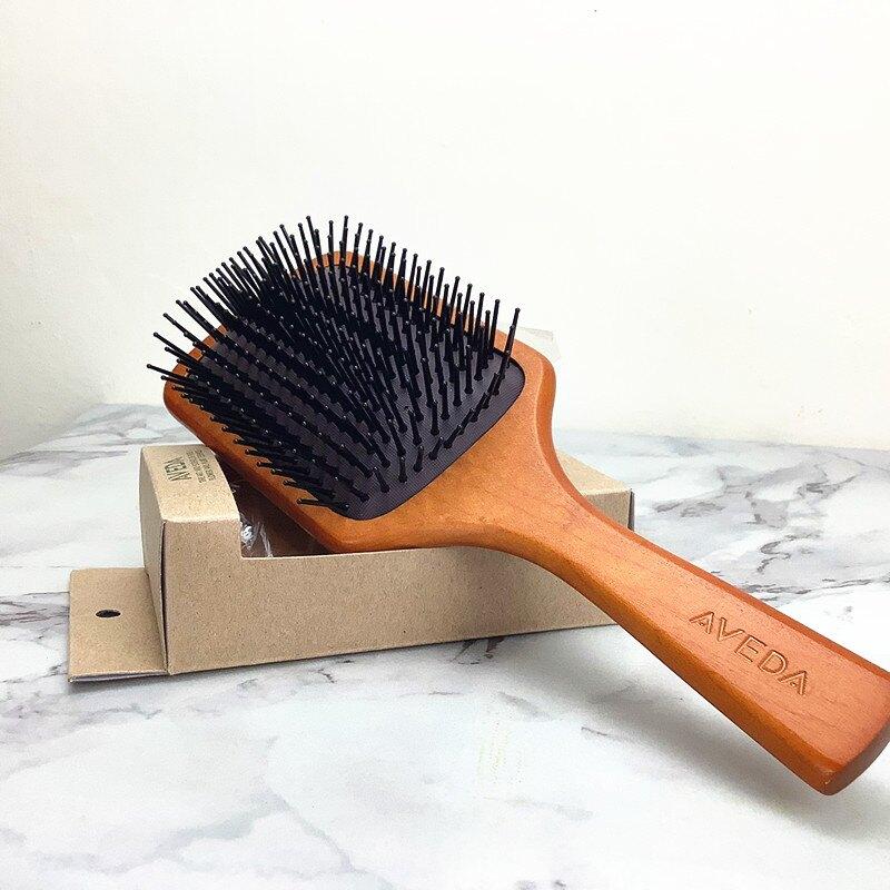 正品AVEDA 木質髮梳 隨行按摩梳 氣囊氣墊按摩木質梳  木質氣墊梳 AVEDA梳子 木梳