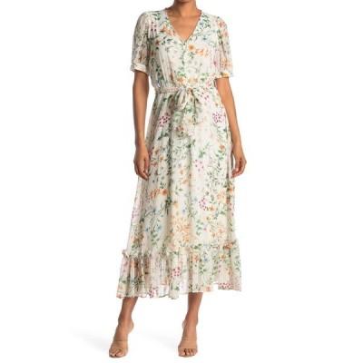 カルバンクライン レディース ワンピース トップス Ditsy Floral Maxi Dress APRICOT MU