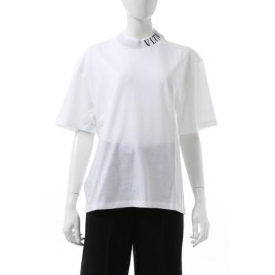 ヴァレンティノ Tシャツ 半袖 モックネック レディース UB3MG07S5PA ホワイト 2020年秋冬新作 Valentino