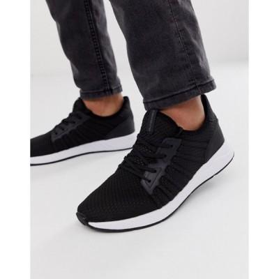 ジャック アンド ジョーンズ メンズ スニーカー シューズ Jack & Jones mesh sneaker with soft upper in black