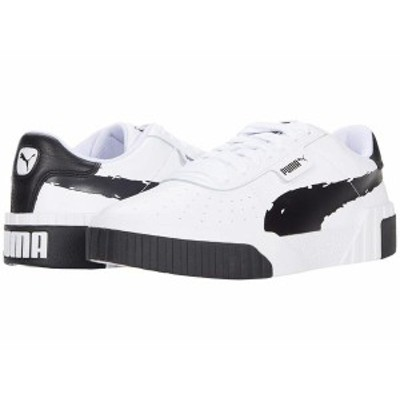 プーマ レディース スニーカー シューズ Cali Brushed Puma Black/Puma White
