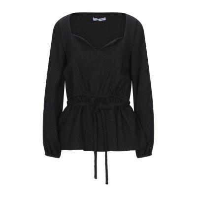 DEITAS ブラウス  レディースファッション  トップス  シャツ、ブラウス  長袖 ブラック