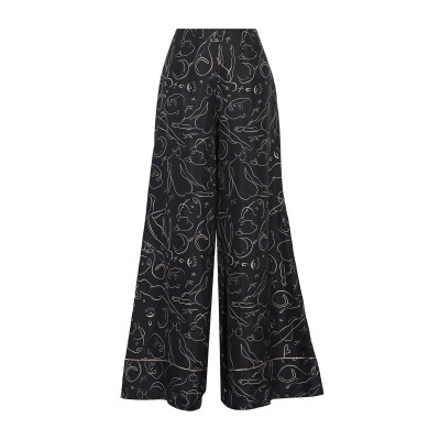 ROKSANDA パンツ ブラック 10 シルク 100% パンツ
