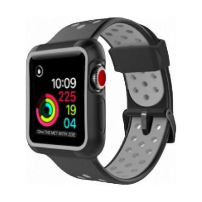 ROOX ルークス Apple Watch Series4&5 40mm用 インテグラル・スポーツ グレー JGWSPSW5S-GY バンド ケース セット