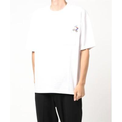 Right-on / 【RAG MACHINE】刺繍半袖Tシャツ MEN トップス > Tシャツ/カットソー