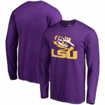 Fanatics Branded ファナティクス ブランド スポーツ用品  Fanatics Branded LSU Tigers Purple Team Lockup Long Sleeve T-Shirt