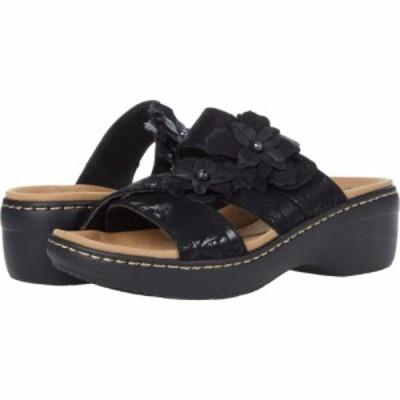 クラークス Clarks レディース サンダル・ミュール シューズ・靴 Merliah Violet Black Textile/Leather Combination