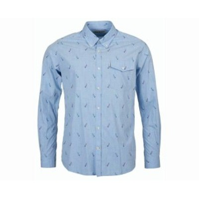 Barbour バブアー? ファッション アウター Barbour Men Blue Size 2XL Sailboat Tailored Fit Button Down Shirt