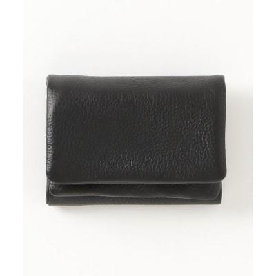 財布 ACTUALLY  牛革 コンパクト 三つ折財布