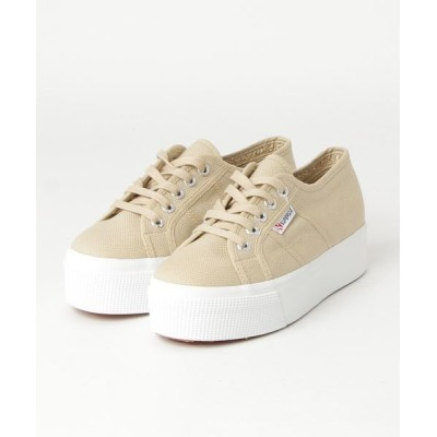 atmos / SUPERGA 2790-ACOT W LINE UP AND DOWN (BEIGE) WOMEN シューズ > スニーカー