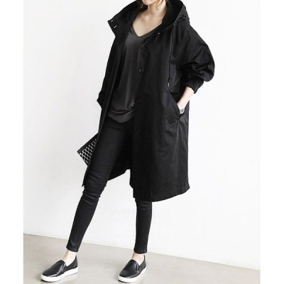2colors大きめざっくりミディアム丈オーバーサイズシンプルアウターコートジャケットレディース