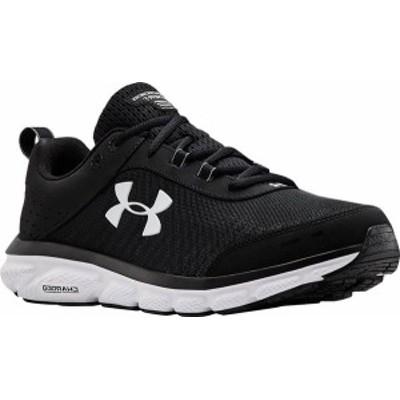 アンダーアーマー メンズ スニーカー シューズ Men's Under Armour Charged Assert 8 Running Sneaker Black/Black/White