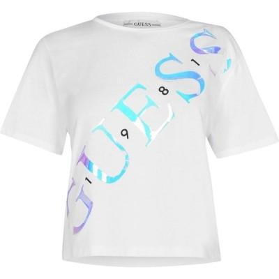 ゲス Guess レディース Tシャツ トップス Sybella T Shirt True White A