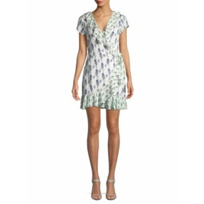 ファースト サイト レディース ワンピース Ruffle-Trimmed Wrap Dress