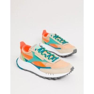 リーボック メンズ スニーカー シューズ Reebok classic legacy sneakers with neon vector in white White