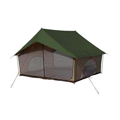 DOD(ディーオーディー) エイテント クラシックな外観の家型テント ポリコットン生地 (カーキ)