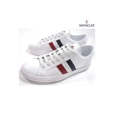 モンクレール MONCLER メンズ 靴 スニーカー ロゴ タン部分ロゴ/トリコロールライン・ソールロゴ入りローカットスニーカー 白 4M71440 01A9A 002 (R59400)