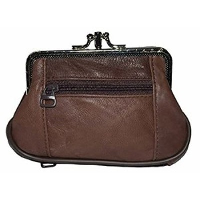 Genuine Leather Coin Purse -Change Holder Black or Brown, Brown