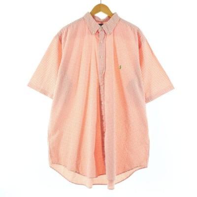 ラルフローレン Ralph Lauren 半袖 ボタンダウンチェックシャツ メンズXXXL /eaa149648