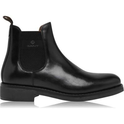 ガント Gant メンズ シューズ・靴 Brookly Leather Boots Black G