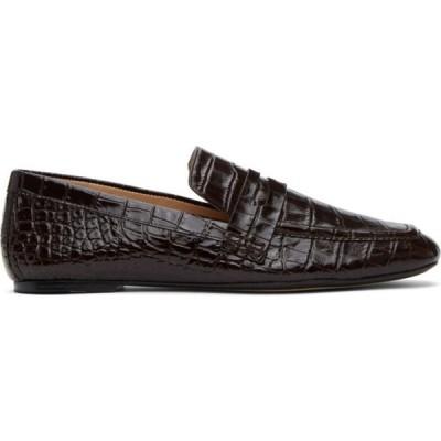 ジョゼフ Joseph レディース ローファー・オックスフォード シューズ・靴 Brown Crocodile Loafers Chocolate