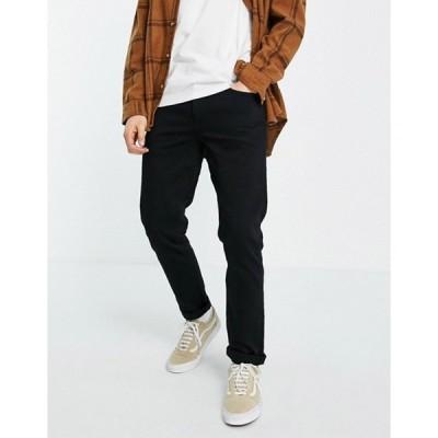 エイソス メンズ デニムパンツ ボトムス ASOS DESIGN no fade black stretch slim jeans