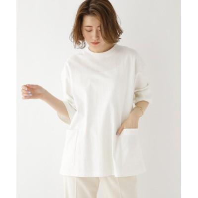 BASE CONTROL LADYS(ベース コントロール レディース) ビッグシルエット 袖 チビロゴ カーゴ 半袖 Tシャツ