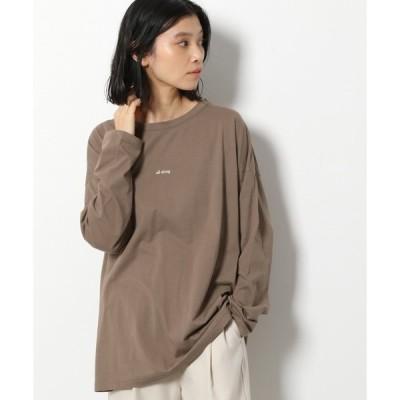tシャツ Tシャツ レタリングプリントロングTシャツ / LAKOLE