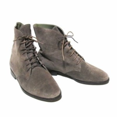 Jurgen Lehl ヨーガンレール「23.5」レザーチャッカーブーツ (グレー 天然素材 草木染め 革 皮 靴) 127176 【中古】