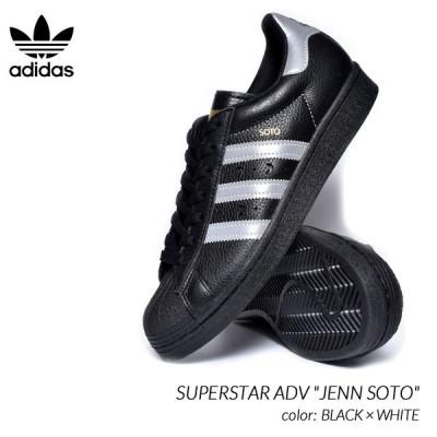 "adidas SB SUPERSTAR ADV ""JENN SOTO"" BLACK × WHITE アディダス スーパースター スニーカー ( 白 ホワイト 黒 メンズ FW2021 )"