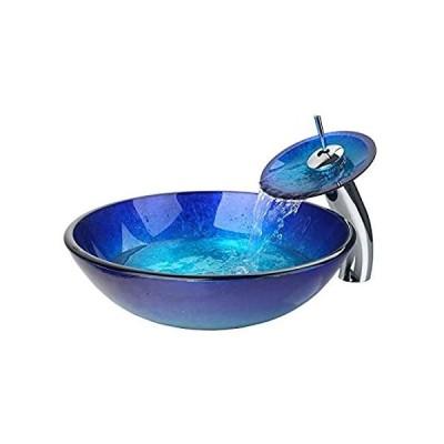 特別価格OUBONIバスルームシンクセットContemporary強化ガラス+ Matchingスタイル蛇口+クロームポップアップ排水slt824好評販売中