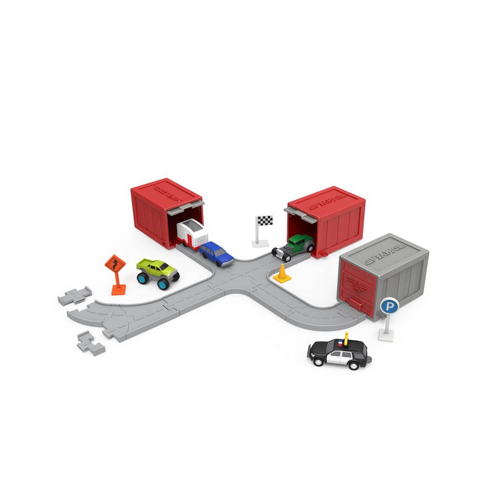 Battat 口袋貨櫃拼圖(系列三)_Driven系列 玩具 模型 小朋友 車