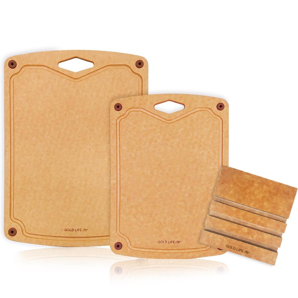 (現貨)GOLD LIFE 美國原木不吸水抗菌砧板三件組