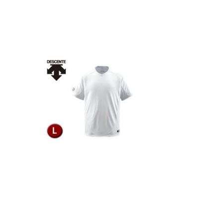 DESCENTE/デサント  DB202-SWHT ベースボールシャツ(Vネック) 【L】 (Sホワイト)
